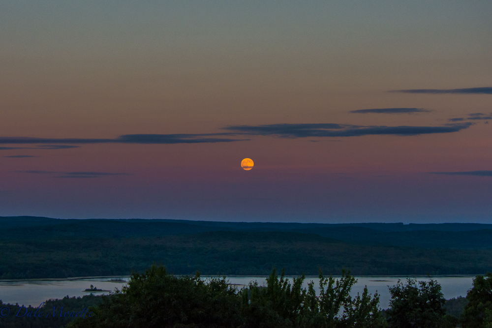 "Quabbin full ""buck"" moon rising, 7/19/16"