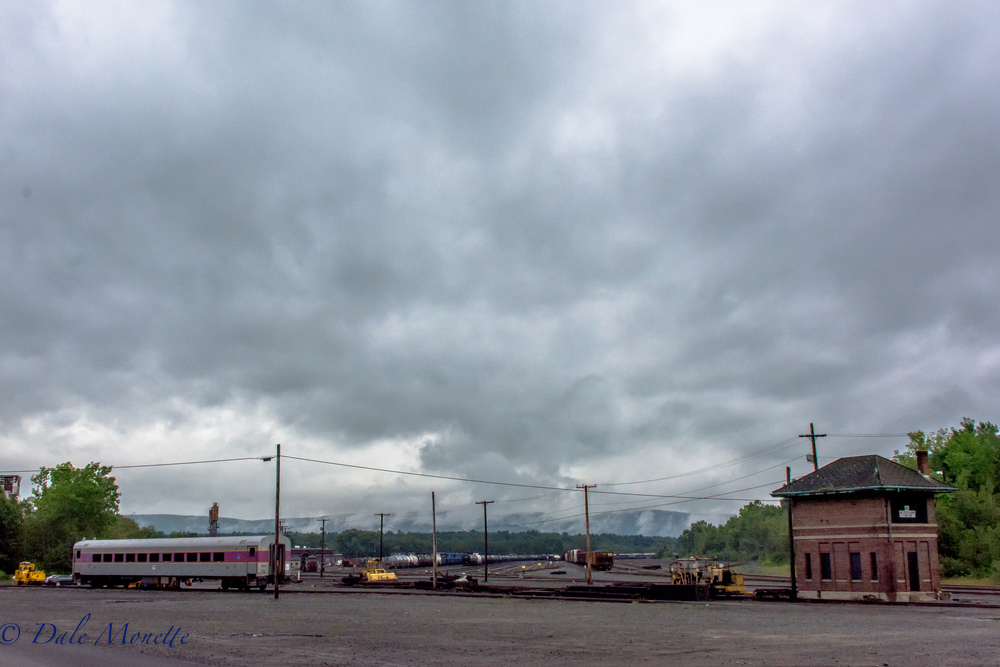 Storm leaving....... Pan Am Deerfield MA railroad switching yard.  8/2/16
