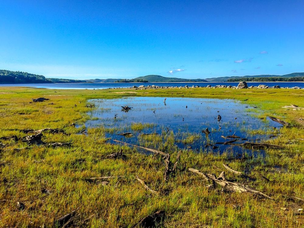 Low water at Quabbin, (iPhone 6 photo) 9/1/16