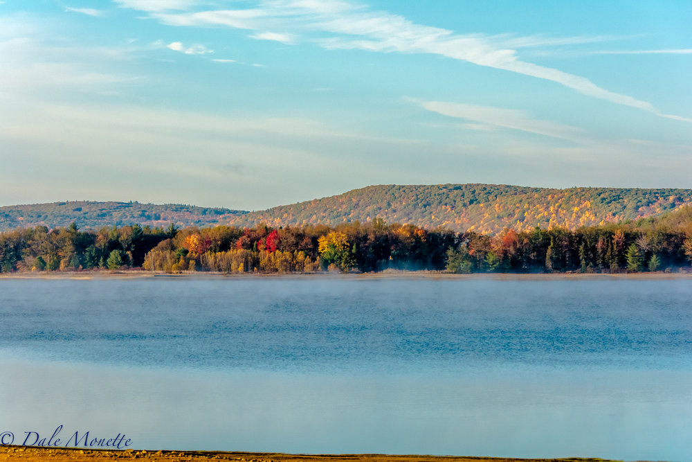 Early morning sun on the east side of the Prescott Peninsula at the Quabbin reservoir.  10/20/16