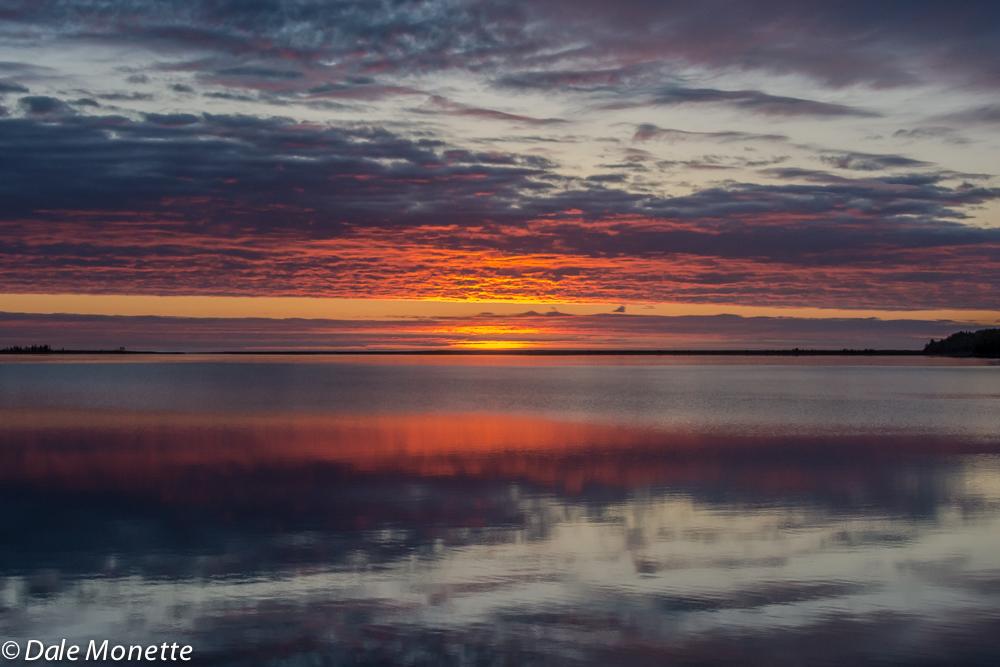 Sunrise from the porch. 6/6/17. South Harbor, Cape Breton, NS, Canada