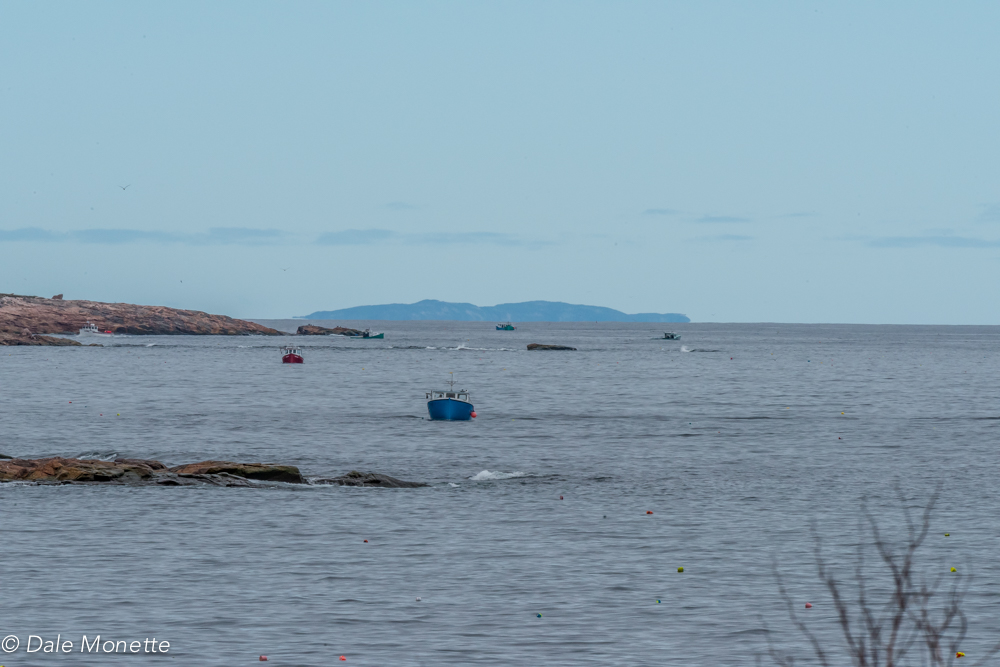 Lobster season on Cape Breton..... St. Paul's Island in the distance. Taken from Neil's Harbor looking dead north up the east side of the island. 6/6/17