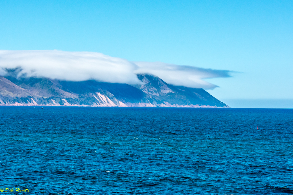 Cape Smokey,, Northern cape Breton Island has its own weather system being right on the northern Atlantic Ocean.......7/6/17