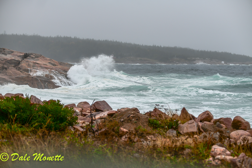 Neil's Harbor today.  Wild and wooly remnants of Hurricane Michael leaving northern Nova Scotia and into the open Atlantic.