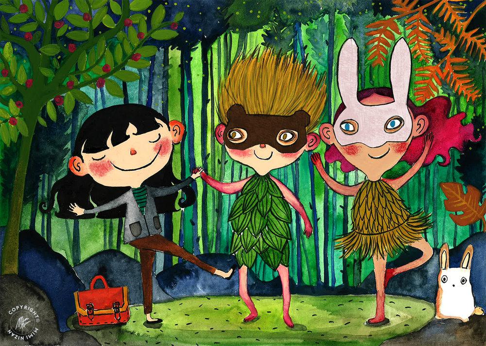 Mimi Nizan Picture Book Illustration Forest Dance.jpg