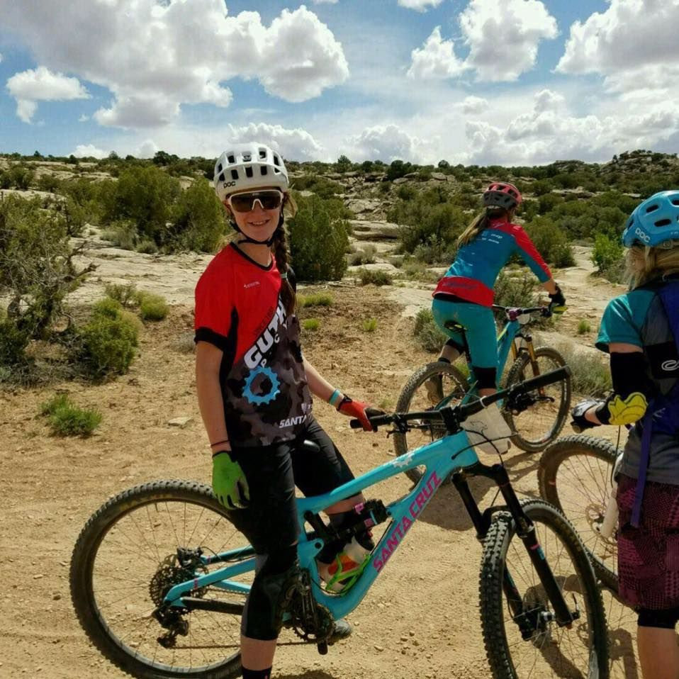 Lia riding in Moab, Utah. Photocredit: Rob Westermann