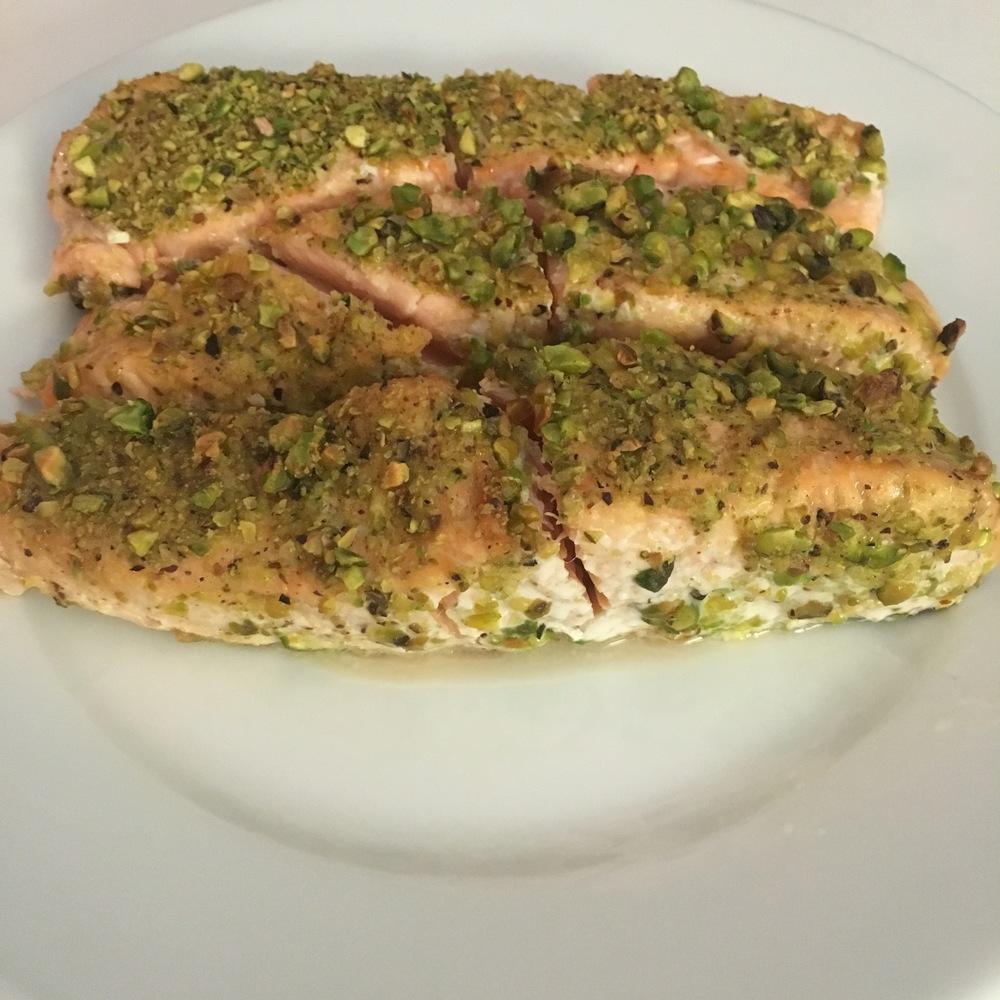 Latest tovita nutrition for Pistachio crusted fish