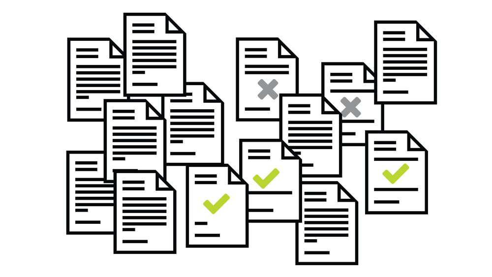 Linear review of unorganized documents reduces both efficiency and consistency.