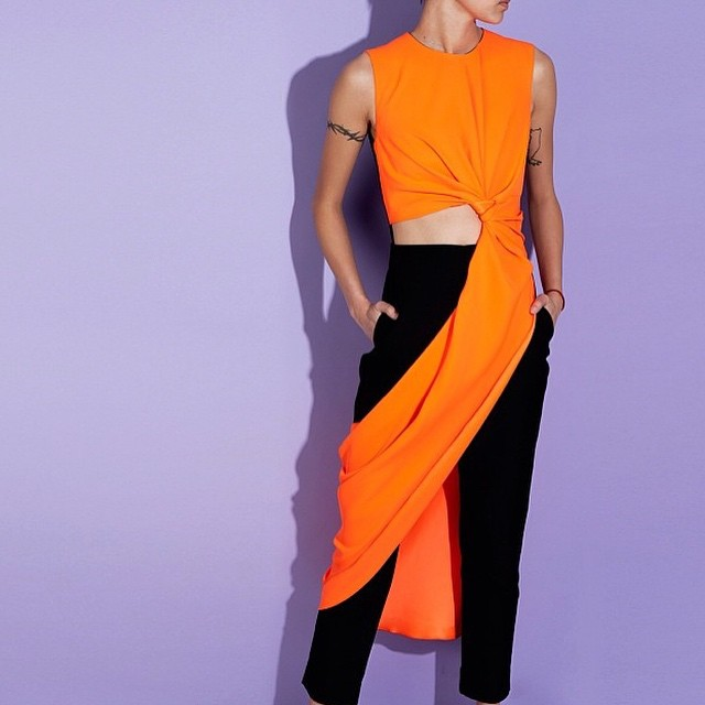 #summer #dressings #feel #the #beauty #orange #dress #pants #lilac #backdrop #model #inspiration #pastels #passion #dear #feeling #good #times #now