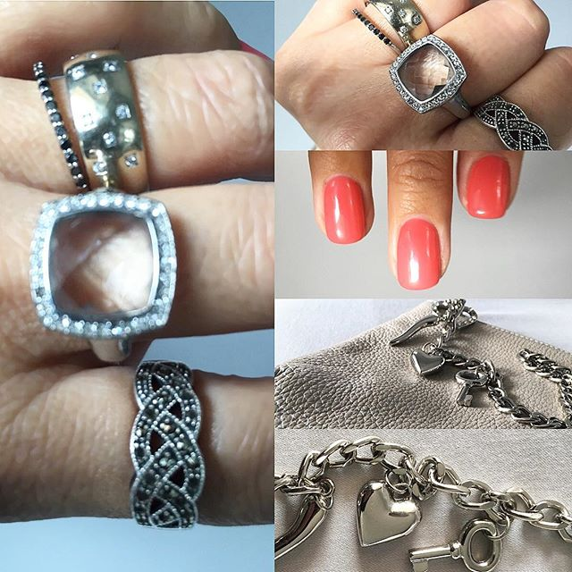 Details! New short happy nails 💅🏽 and a lot of bling bling. Not only on my fingers but also on my handbag! #weekenddetails #iworefortheweekend #silver #details #assessories #antique #reused #old-new-mixed #shortnails #inspirationgallery @galinanurmi