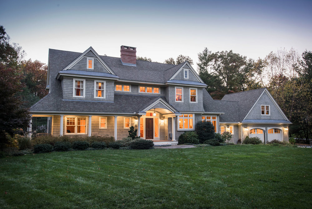 Custom Home in a suburb west of Boston.  3,480 sq. ft. in two stories + a walk-up attic.