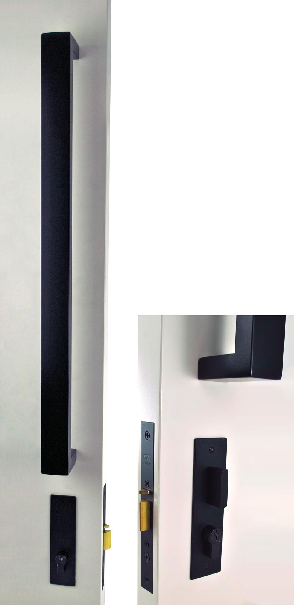 black front door handles. OZI-4 Deadlatch Combo Black Front Door Handles M