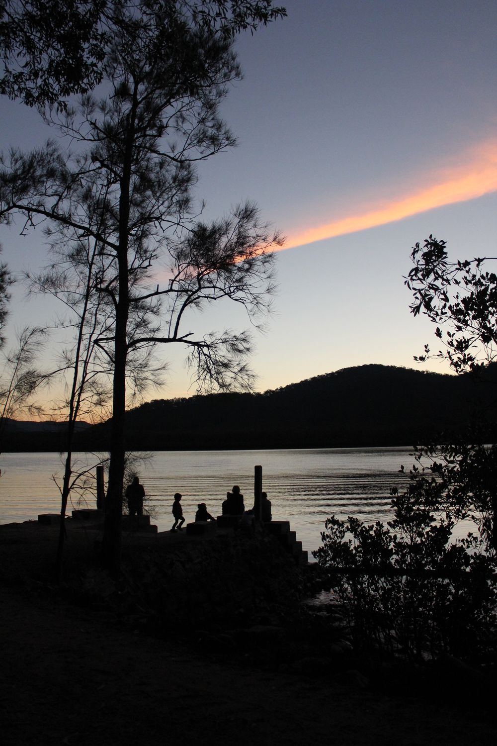Hawkesbury river sun set