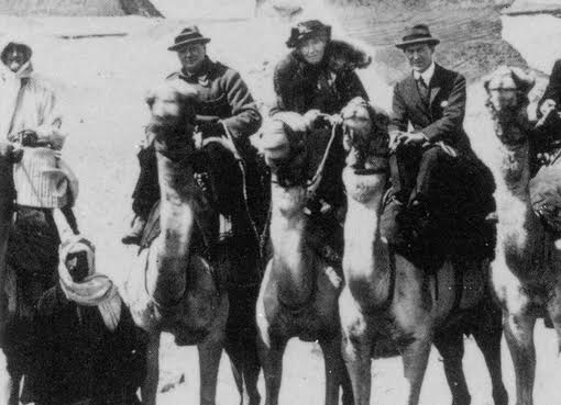 Winston Churchill, Gertrude Bell and Colonel Lawrence