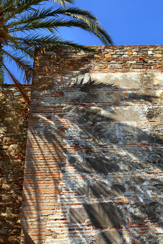 Long Shadows in the Heat of the day at the Alcazaba of Málaga