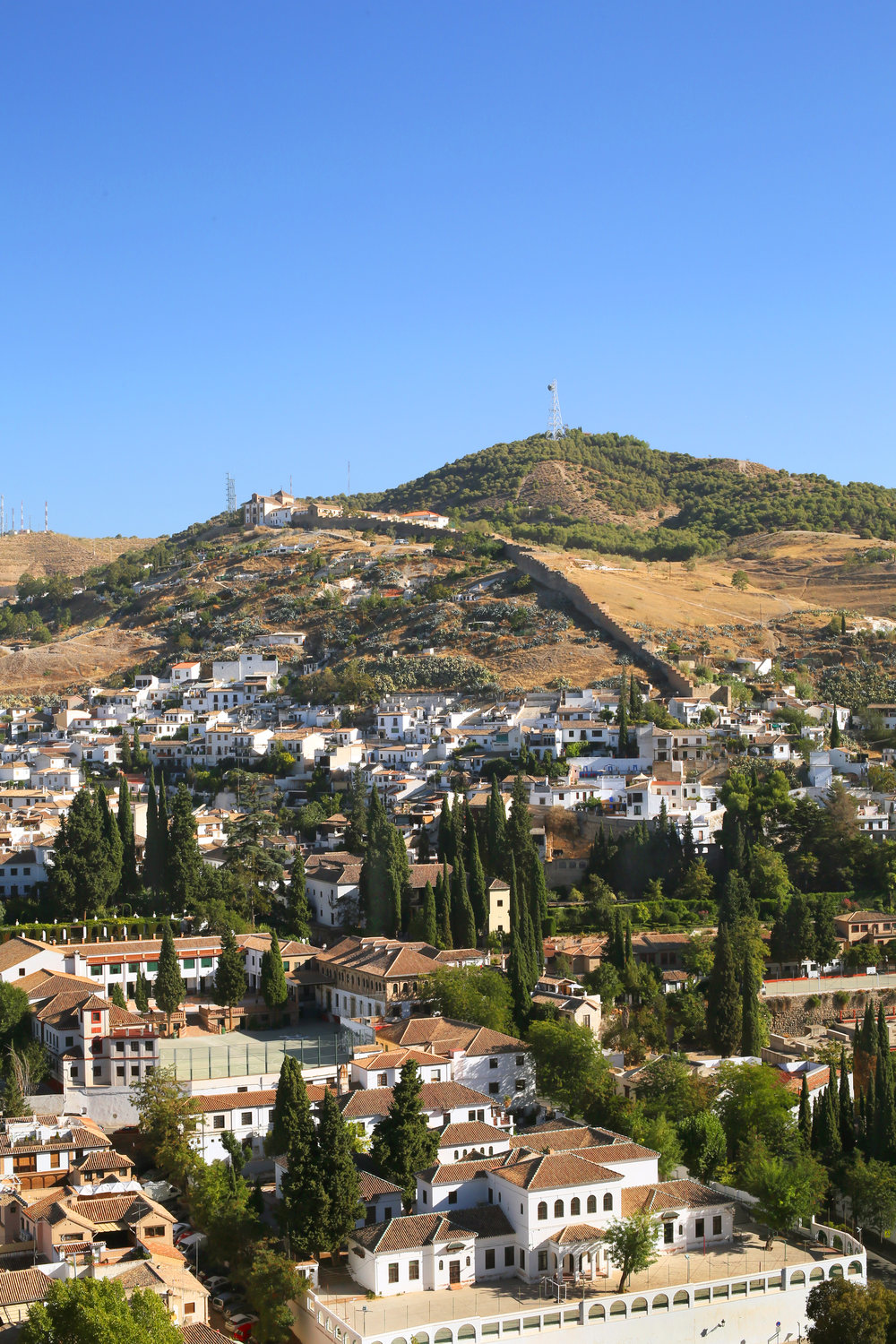 View of Granada from the queen's terrace