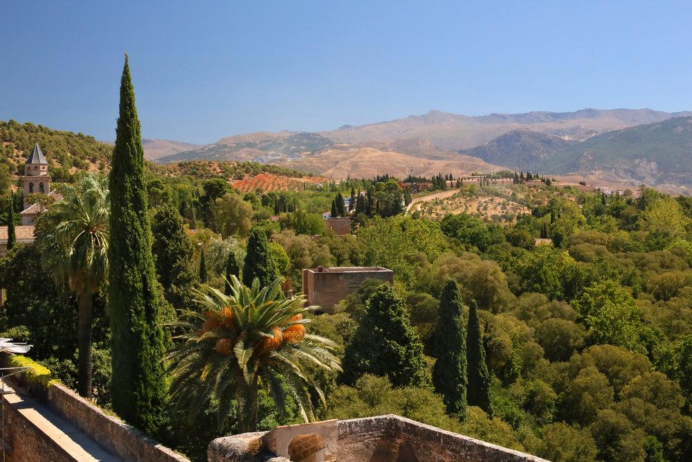 View from Alhambra's Gibralfaro