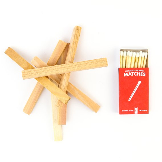 Light as many sticks from an assortment of America's finest smelling wood as suits your preference.  Allow for proper combustion.  Extinguish the flame, and waft the rising essence of a freshly lit campfire over your flannel.