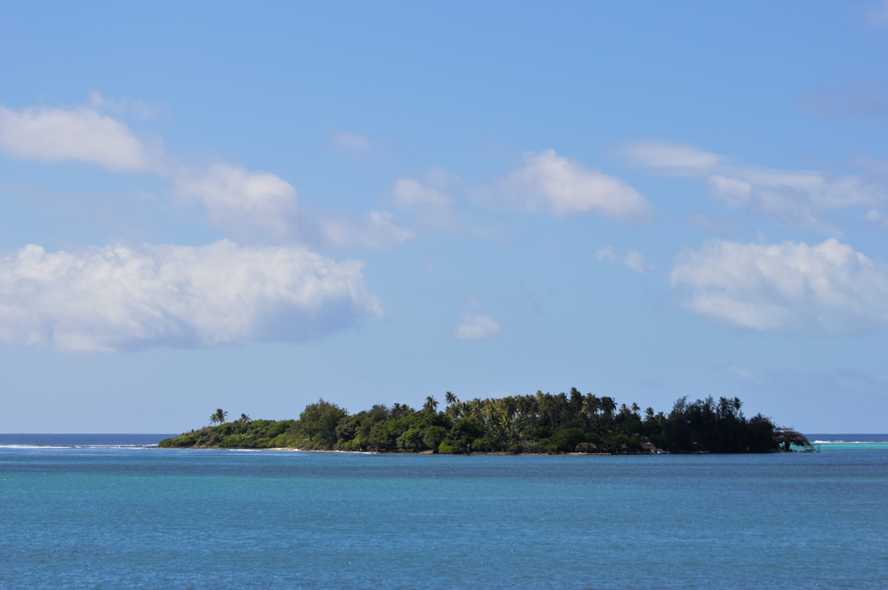 Tahaa Island, the view from the yacht.