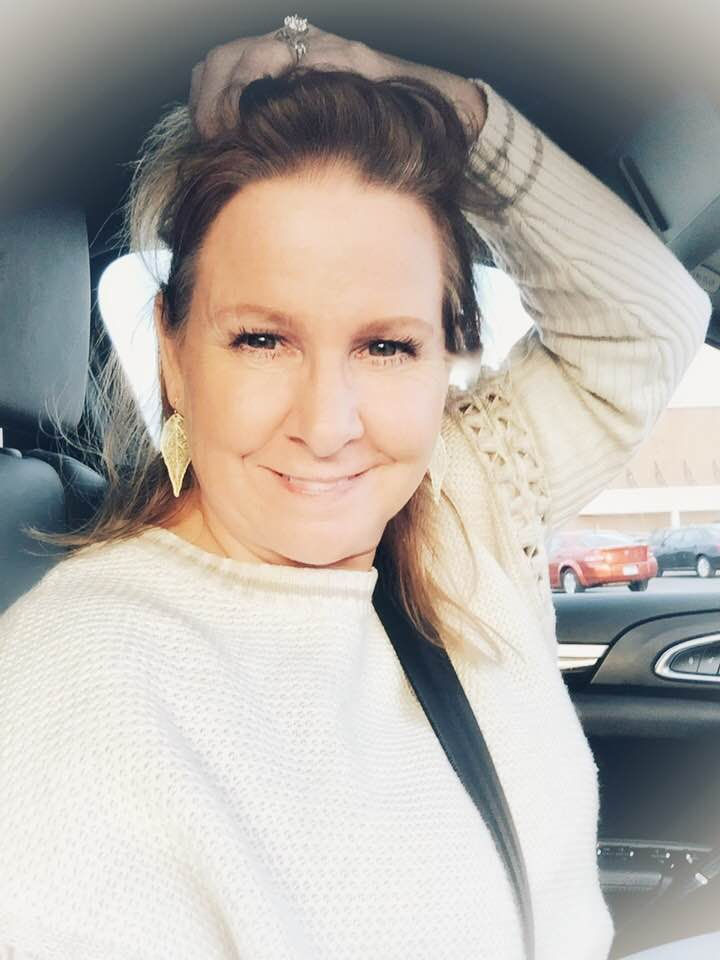 Photo of Me - October 14, 2018 - Photo taken by me in the car after a make-up artist showed me how to pencil in eyebrows and I have yet to be able to repeat her example, ha!.jpg