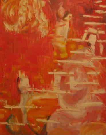 """Shadow-girl   (16"""" x 20"""")   oil and acrylic on canvas"""