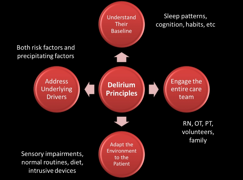 Take-away slide: Principles of Delirium Management