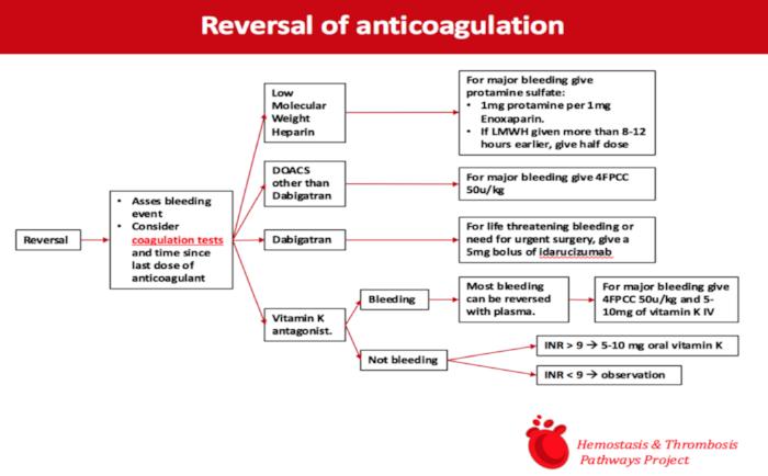 Anticoagulation reversal algorithm that Sven Olson and Joe Shatzel recently put together