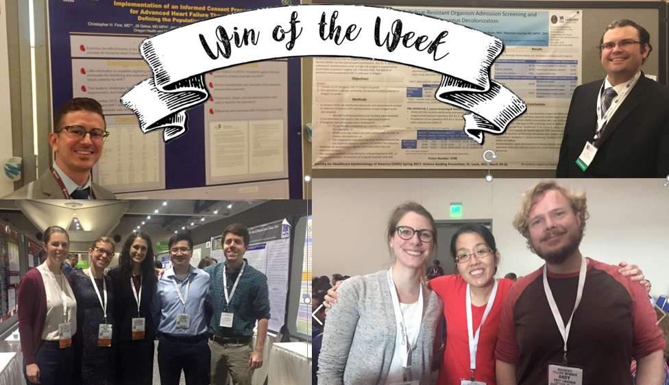 Over the past few weeks our residents have been busy traveling all across the country to present posters and show off their knowledge.  Congrats to all!