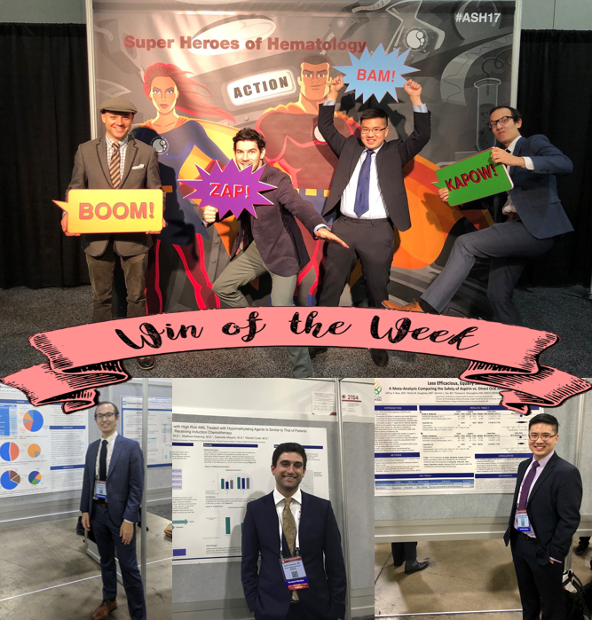 Several current and former OHSU residents and fellows presented their scholarly work at #ASH in Atlanta, Georgia. Clearly, hematologists know how to have fun! Congratulations! Don't forget to check out @OHSUIMRes for more #OHSUscholarship! (Not pictured, Max Gordon)