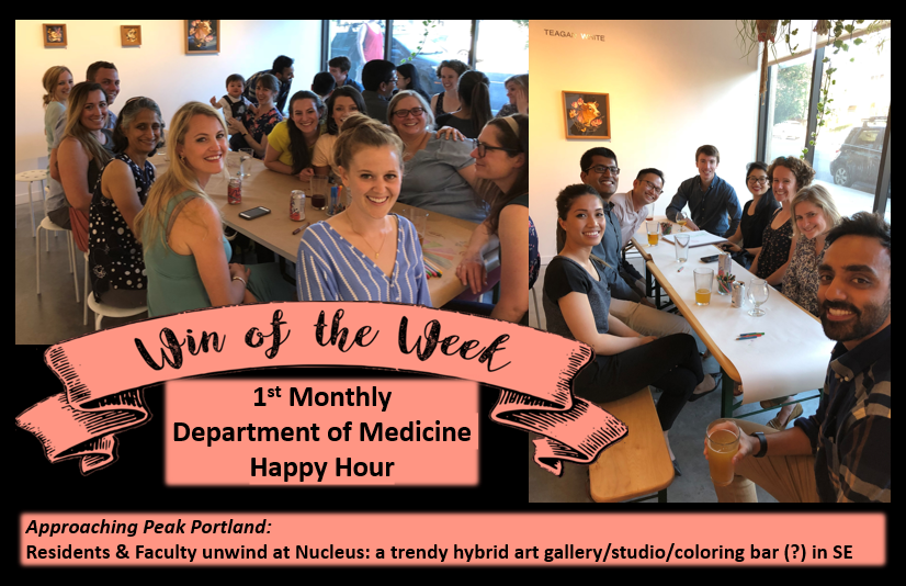 Introducing the NEW MONTHLY DEPARTMENT OF MEDICINE Happy Hour!