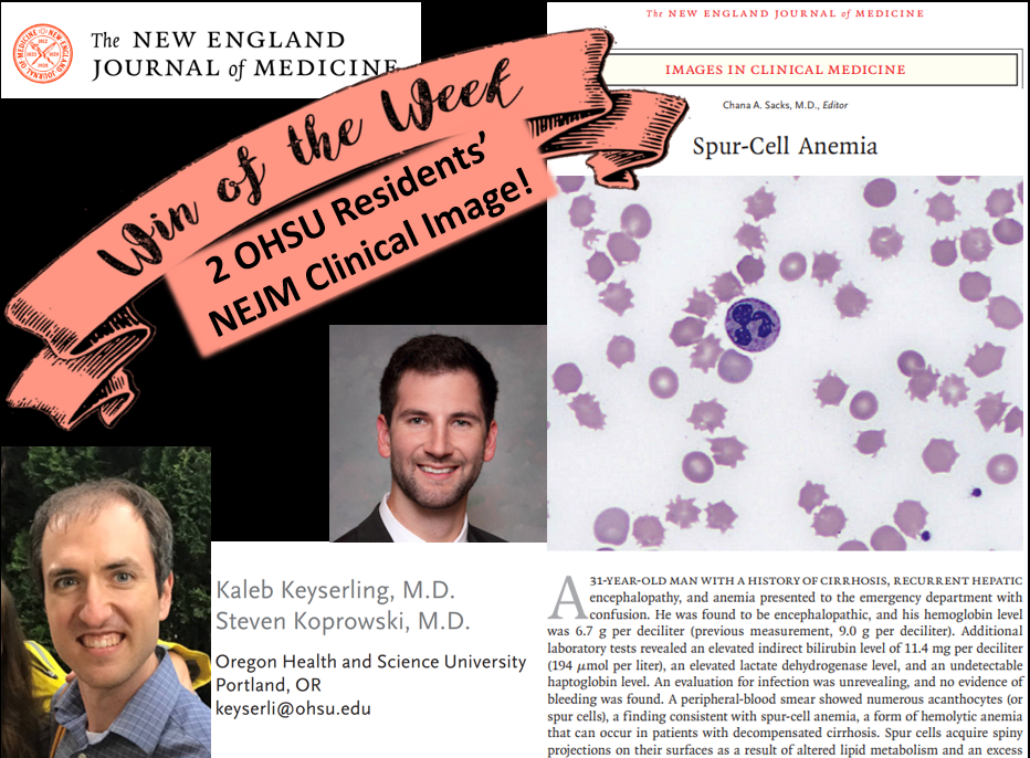 Dr. Keyserling and Dr. Koprowski's clinical image is featured in the 8/23 edition of the New England Journal of Medicine!