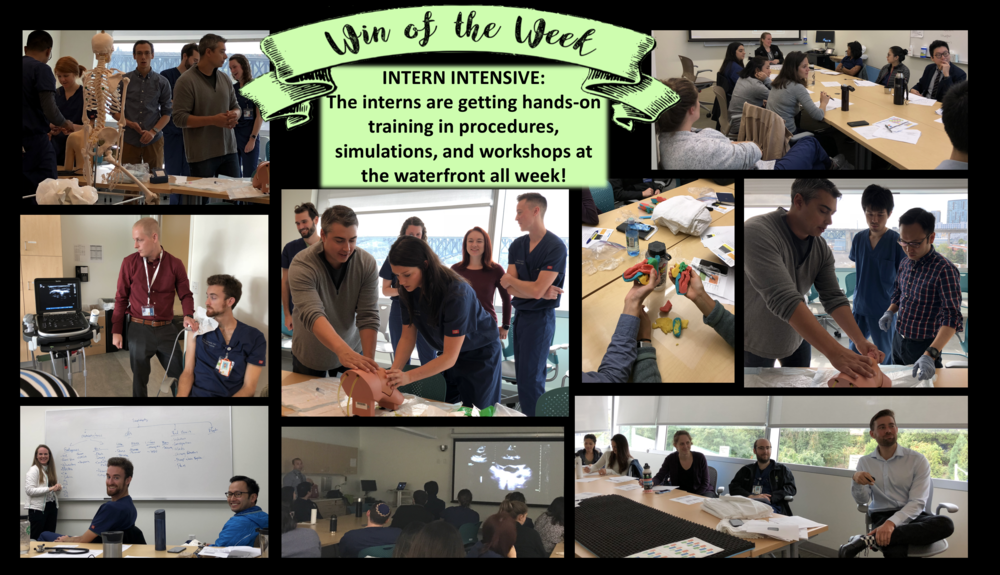 Snapshots from our 2018 Intern Intensive Curriculum
