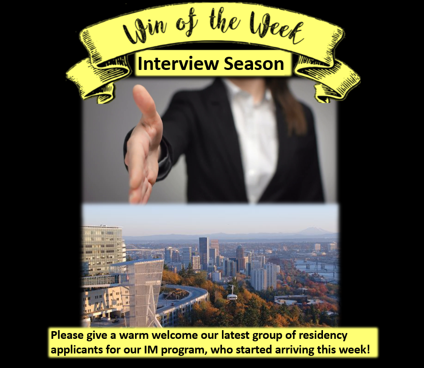 Along with foliage and pumpkin spice Fall brings Residency Interview Applicants from around the country to the Pacific Northwest. We are excited to extend to them a warm welcome to our home and demonstrate the benefits of living and learning in Portland!