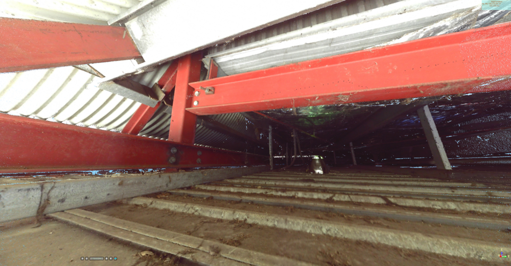 Inside the Car Park Canopy