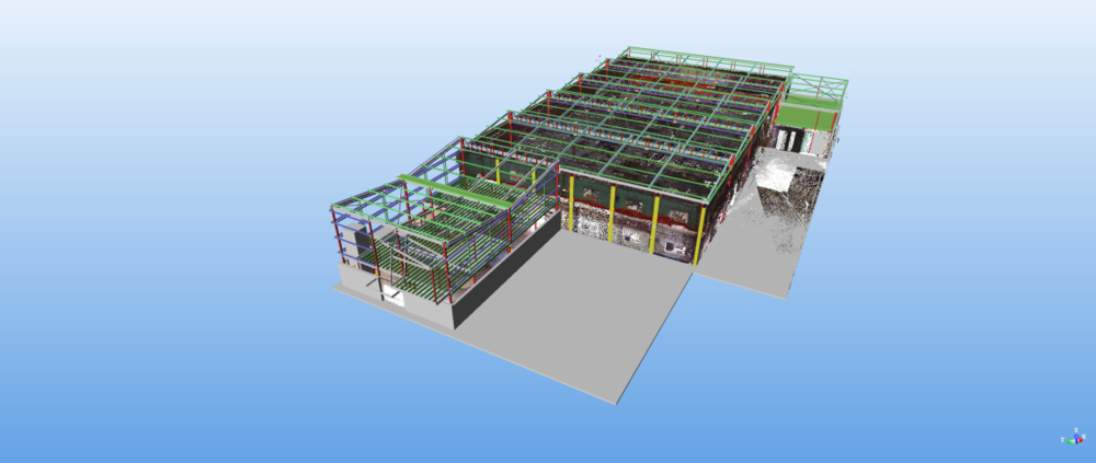 Mascot Ice rink with new steelwork