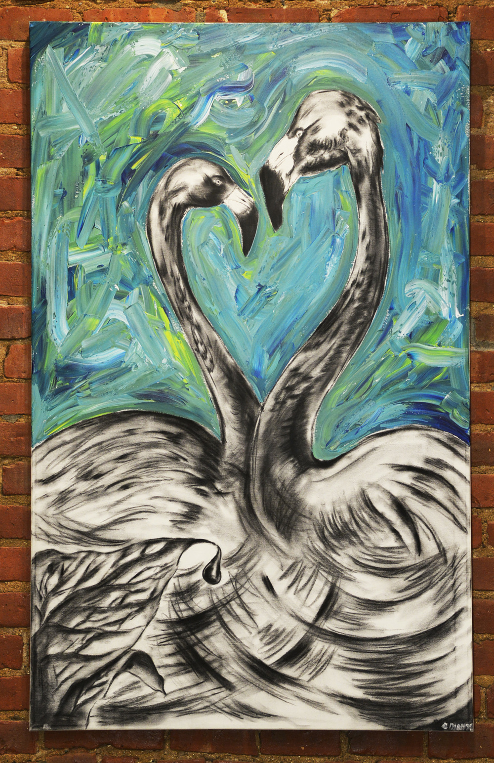 The look of love /Material-Acryl,Charcoal /Size -30x48