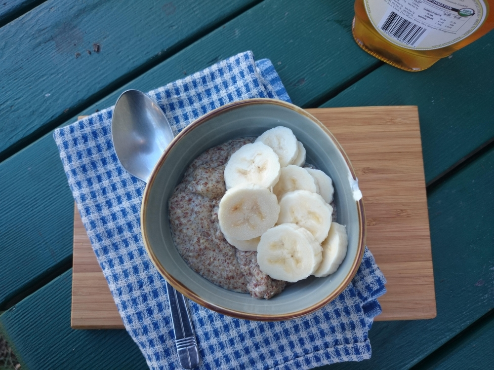 Banana Maple & Ginger LSA Porridge - perfect for a winter's day