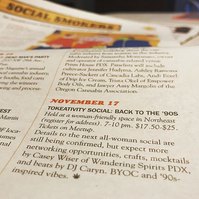 Look what happen while we were on vacation! We're in The Harvest Issue of @willametteweek! Ladies, come check out what we're serving up this Saturday Oct 21st and again on Nov 17th at the @tokeativity socials! . . . #wanderingspiritspdx #travelingbar #travelingbartender #tokeativity #tokeativitysocial #cannacocktail #cannamama #cannawomen #wweek #pdxweed #pdxweedevents #pdxnow