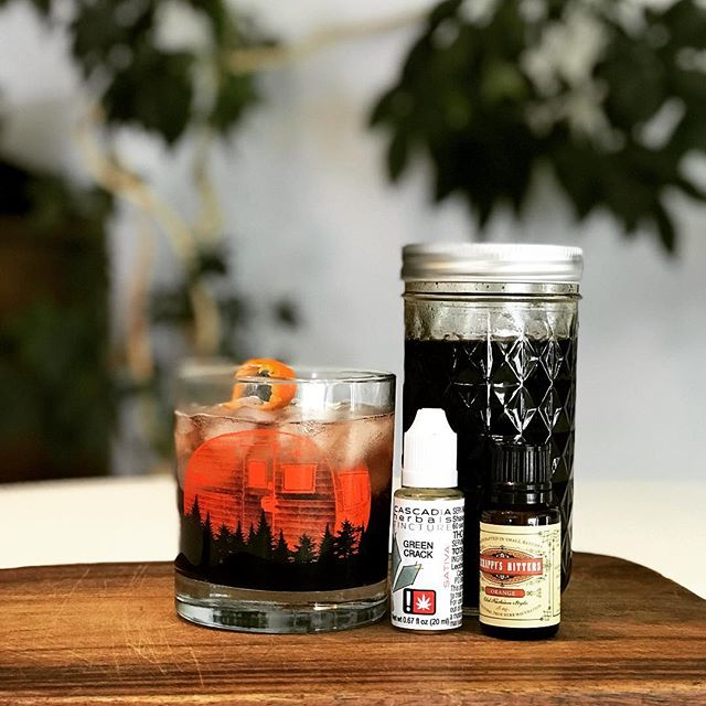 This week's #tgif happy hour is medicinal and sure to help you feel better.  Elderberry Syrup is an excellent immunity booster and super tasty with @cascadiaherbals cannabis tinctures and bitters! #absorbyourhigh . . . . #wanderingspiritspdx #travelingbar #travelingbartender #trailerbar #portlandcocktails #pdxevents #pdxnow #pdxcocktails #pdxdrinks #pdxhappyhour #pdxcannabis #cannabis #cannatails #cannabiscocktail #highvibes #elderberrysyrup #weedismymedicine