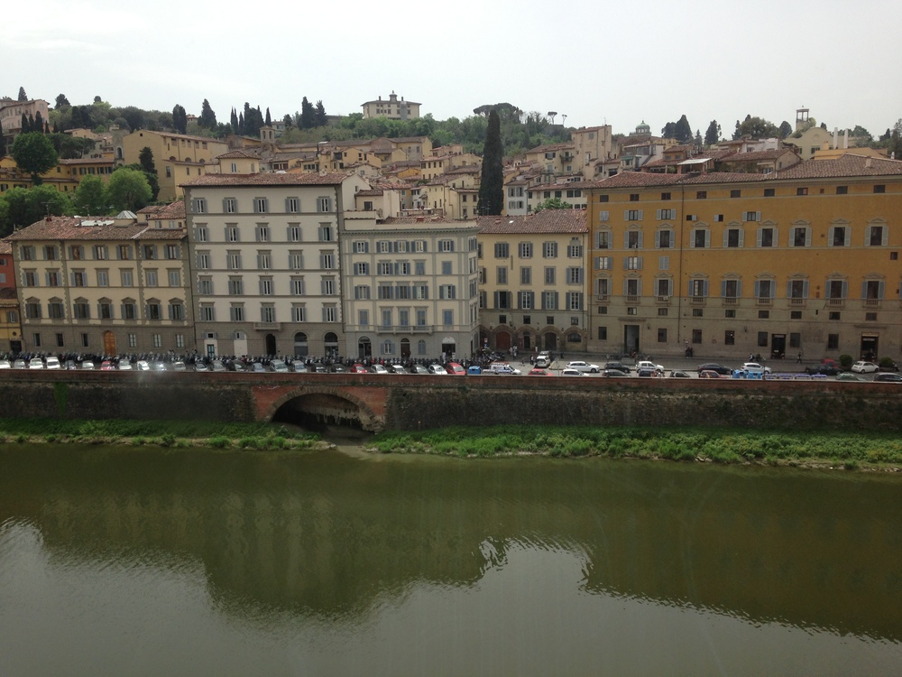 A view of the river Arno in Florence, Italy, taken from the Uffizi Museum.