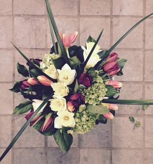 Round hand tied bouquet