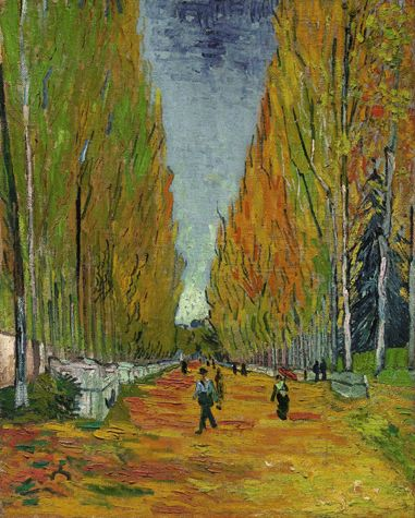 Vincent van Gogh  L'Allée des Alyscamps, 1888  Oil on canvas  36 1/8 by 28 7/8 in. 91.7 by 73.5 cm
