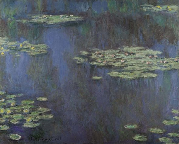 Claude Monet  Nymphéas, 1905  Signed Claude Monet and dated 1905 (lower left)  Oil on canvas  31½ by 38½ in. (80 by 98 cm)