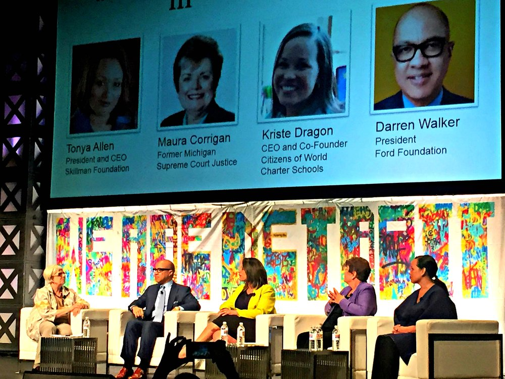 Mary Kramer, Darren Walker, Tonya Allen, Maura Corrigan and Kriste Dragon