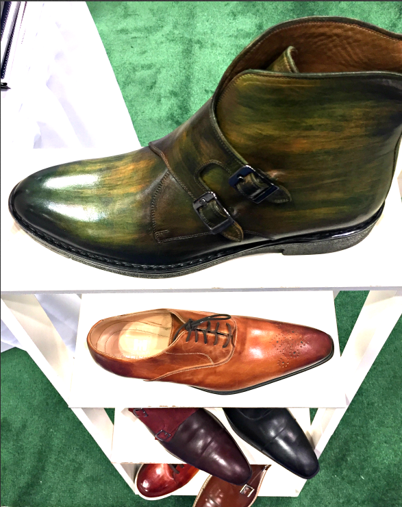 Shoe display, Isaiah Hemmingway booth