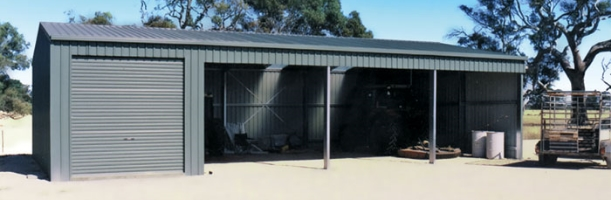 Open Farm Shed with one enclosed bay
