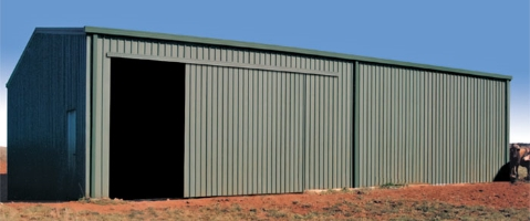 Farm Shed with Sliding Door