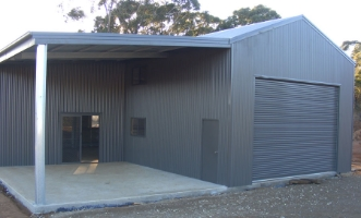 Farm Shed with Garaport
