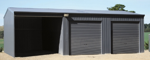 Large Farm Shed with Closed-in Lean-to