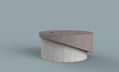 wedge coffee table — zipperer studio